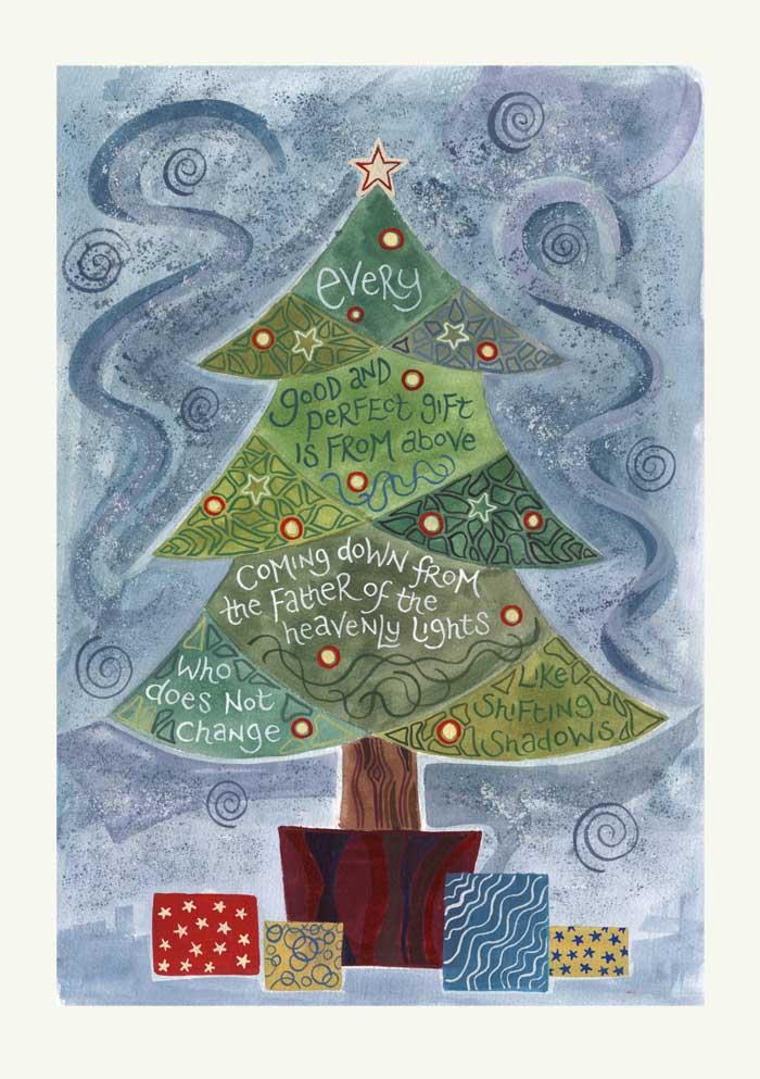 Hannah Dunnett Christmas Tree Christmas Card
