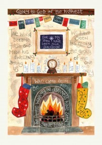 Hannah Dunnett Glory to God Christmas Card