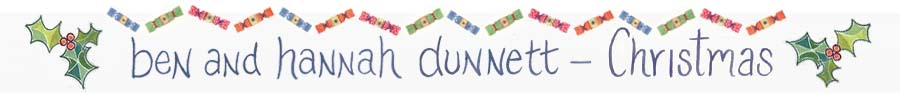 Ben and Hannah Dunnett Christmas 2015 Banner