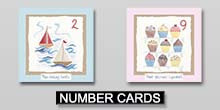 Hannah Dunnett Kids number Greetings Cards link
