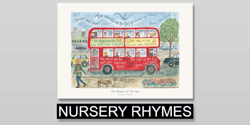 Hannah Dunnett Nursery Rhymes Kids Greetings Cards