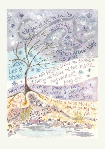 Hannah Dunnett In the bleak mid winter Christmas Card