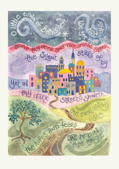 Hannah Dunnett O Little Town Christmas Card