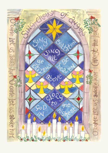 Hannah Dunnett Sing choirs of angels Christmas Card