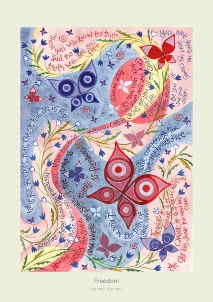 Hannah Dunnett Freedom Greetings Card light background