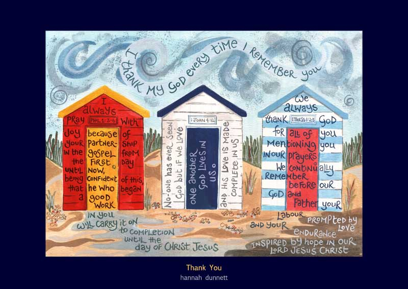 Hannah Dunnett Thank you Greetings Card