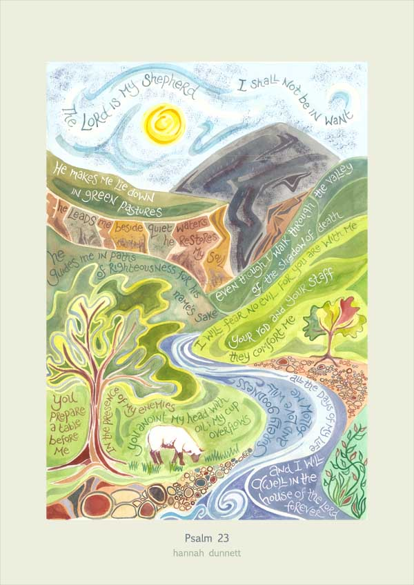 Hannah Dunnett Psalm 23 Greetings Card