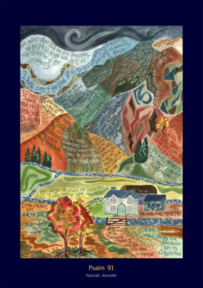 Hannah Dunnett Psalm 91 Greetings Card