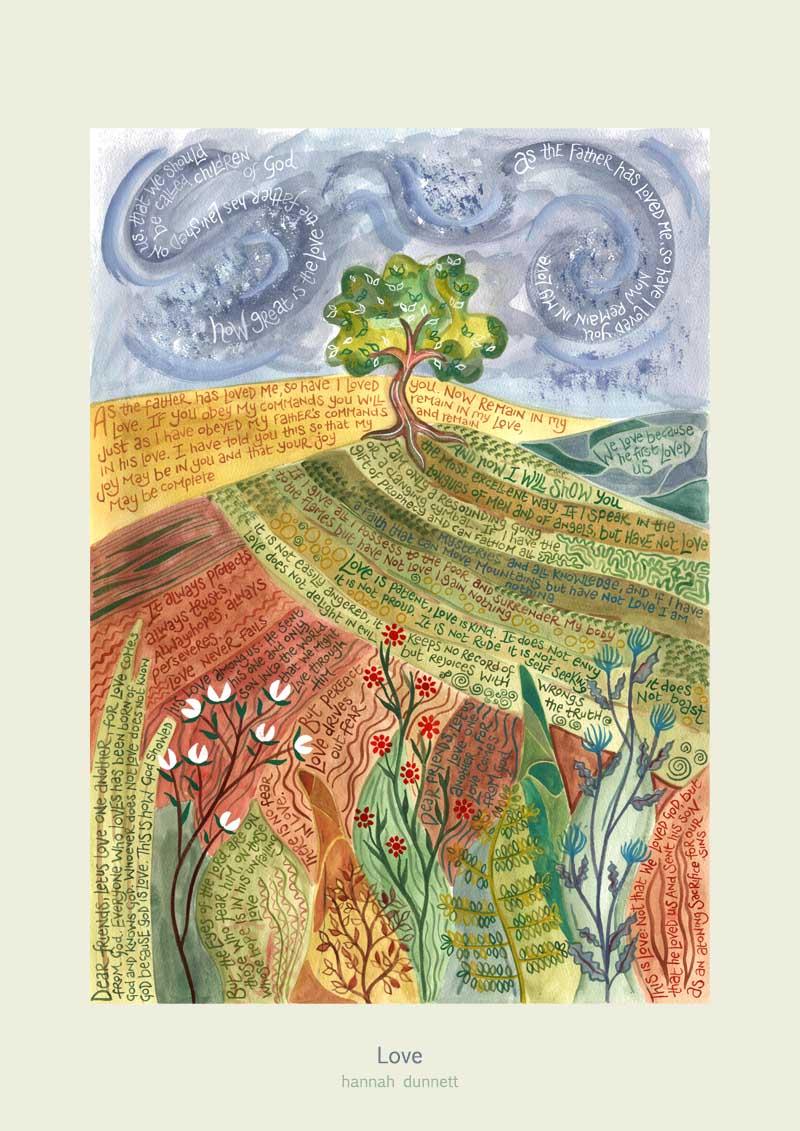 Hannah Dunnett Love Art Print