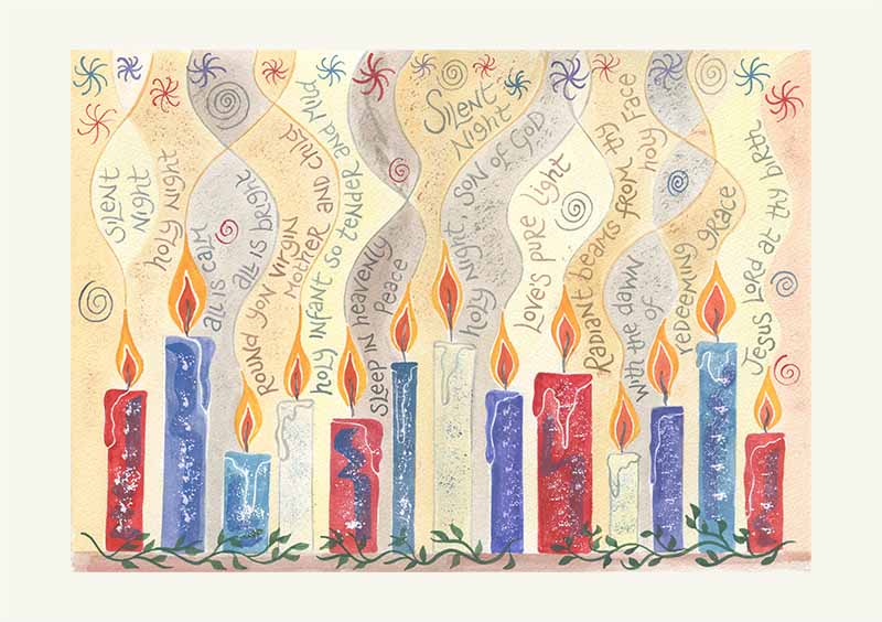 Hannah Dunnett Silent Night Christmas card