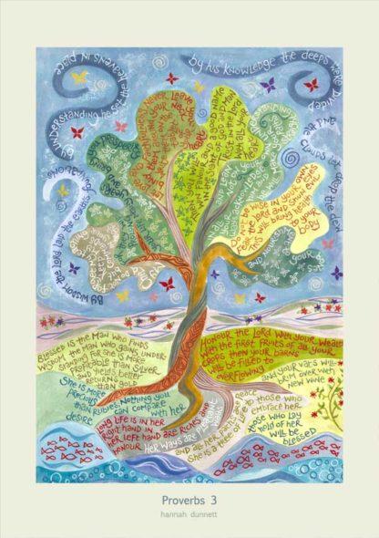 Hannah Dunnett Proverbs 3 Art Poster