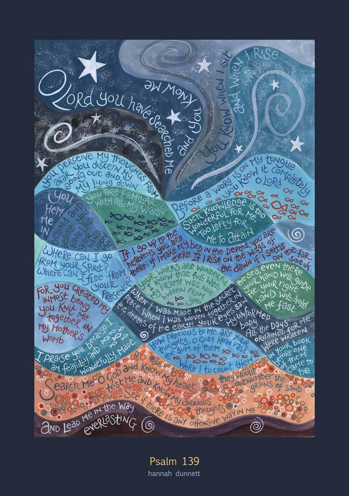 Hannah Dunnett Psalm 139 Art Poster