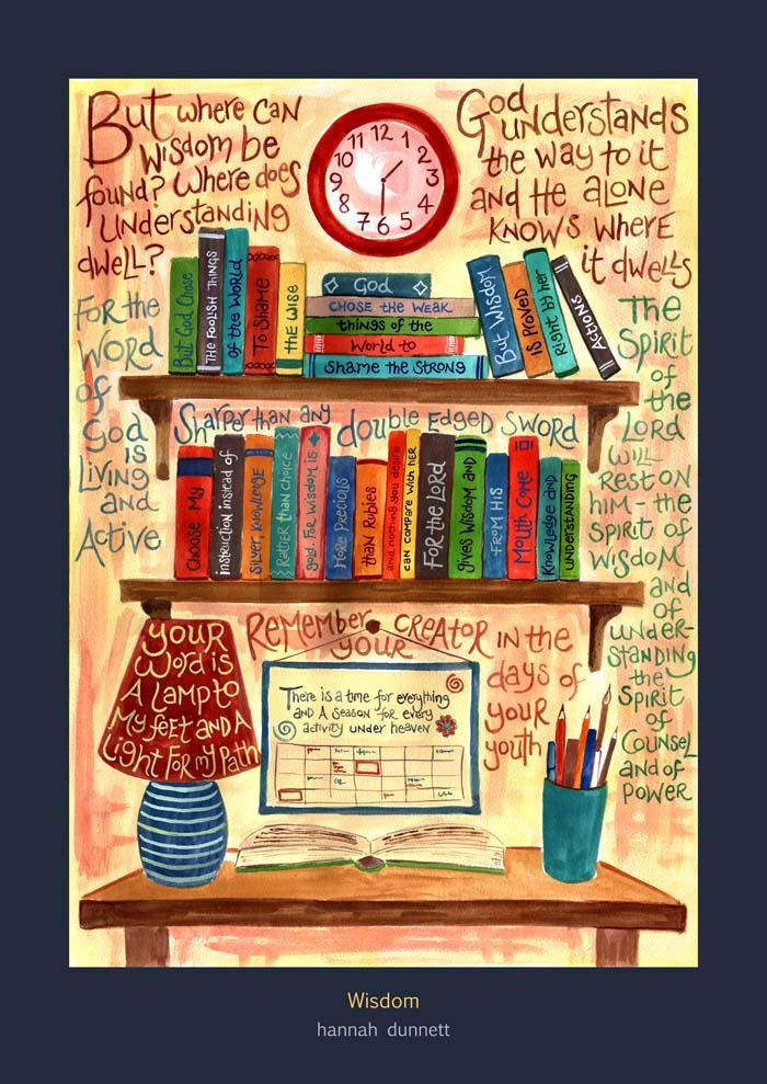 Hannah Dunnett Wisdom Art Poster