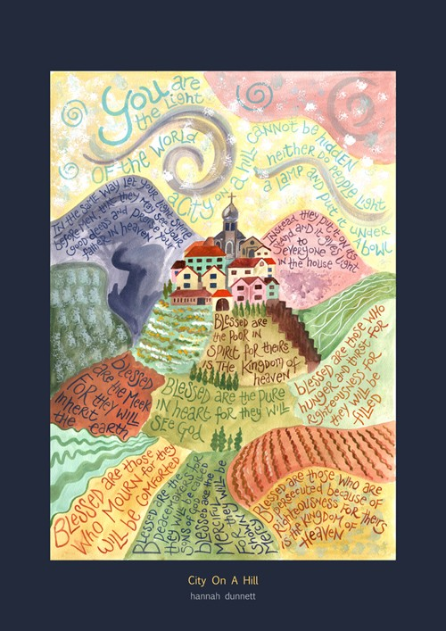 Hannah Dunnett City On A Hill Art Poster