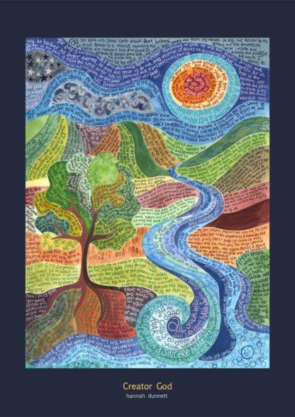 Hannah Dunnett Creator God Poster