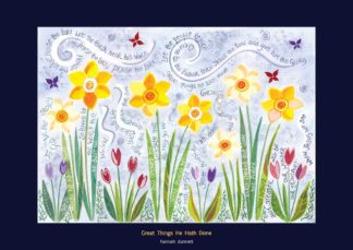 Hannah Dunnett Great Things He Hath Done Greetings Card