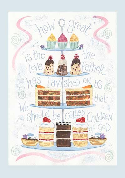 Hannah Dunnett Cake Stand Notecard