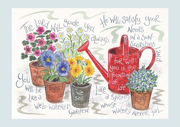 Hannah Dunnett Fountain Of Life notecard