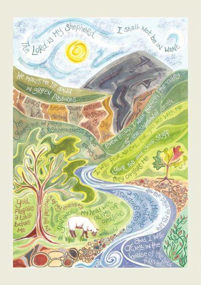 Hannah Dunnett Psalm 23 Notecard