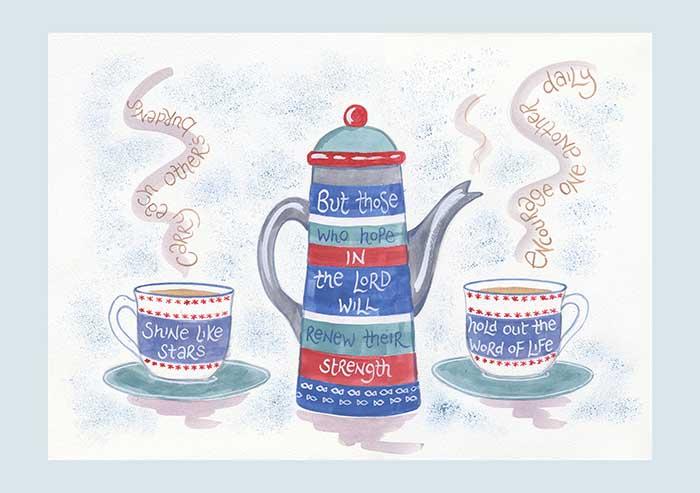 Hannah Dunnett Tea Set Notecards