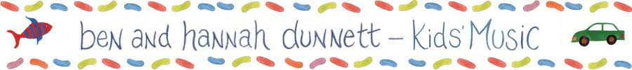 Ben and Hannah Dunnett Kids Music Page Banner