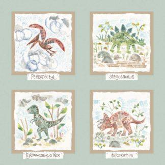 Hannah Dunnett dinosaurs print