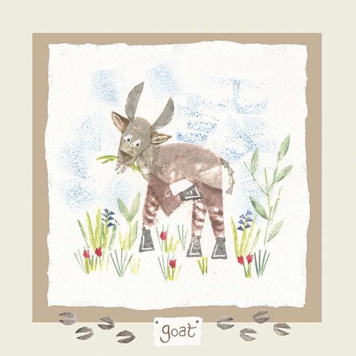 Hannah Dunnett goat card