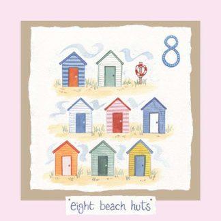 Hannah Dunnett number eight card pink background