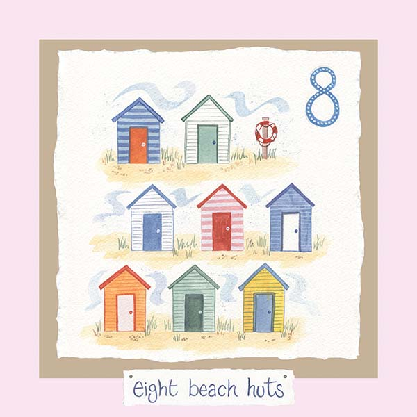 Hannah Dunnett number eight card pink background