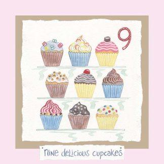 Hannah Dunnett number nine card pink background