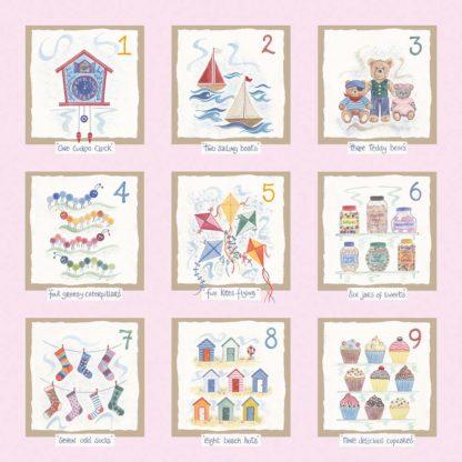 Hannah Dunnett number print pink background