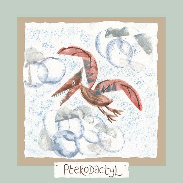 Hannah Dunnett pterodactyl card