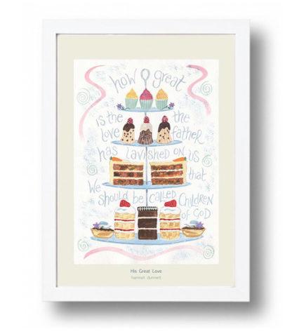 Hannah Dunnett His Great Love A4 poster white framed