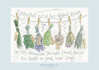 Hannah Dunnett May He Strengthen You A4 Poster