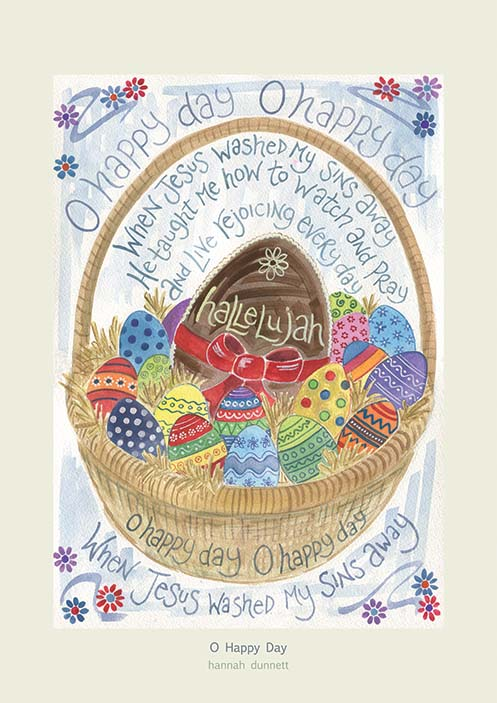 Hannah Dunnett O Happy Day greetings card