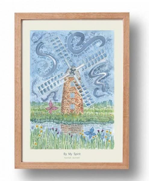 Hannah Dunnett By My Spirit A3 Poster oak frame