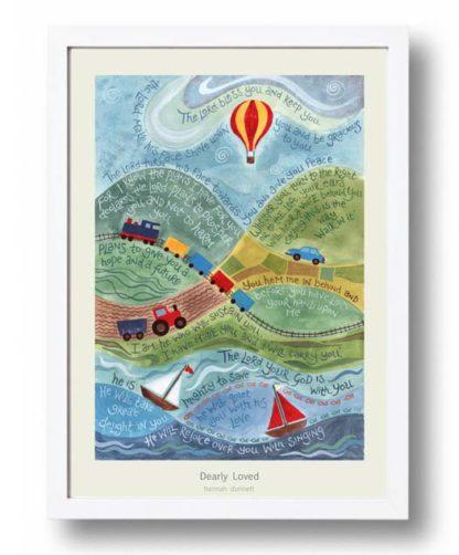 Hannah Dunnett Dearly Loved A3 Poster white frame