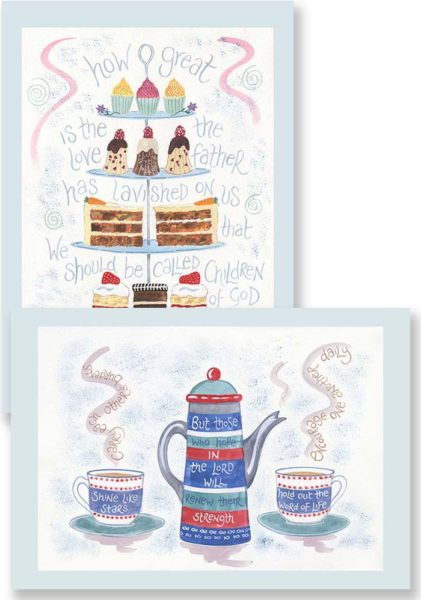 Hannah Dunnett His Great Love and Encourage One Another Notecards updated version