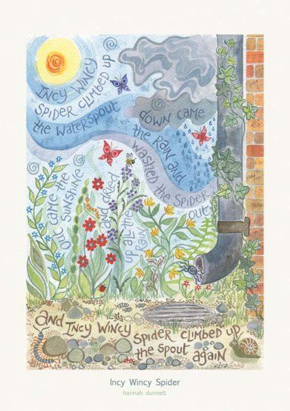 Hannah Dunnett Incy Wincy Spider greetings card