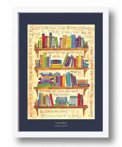 Hannah Dunnett Living Word A3 Poster white frame