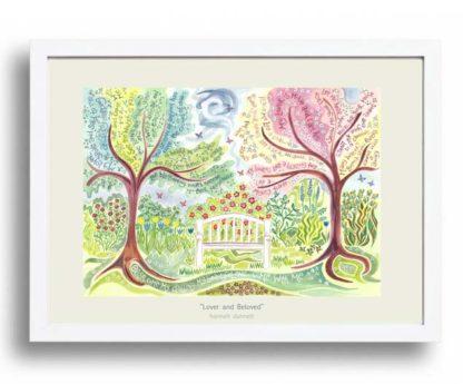 Hannah Dunnett Lover and Beloved A3 Poster white frame