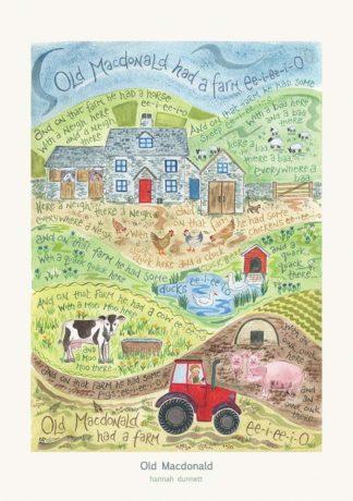 Hannah Dunnett Old Macdonald greetings card