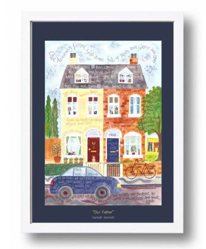 Hannah Dunnett Our Father A3 Poster white frame