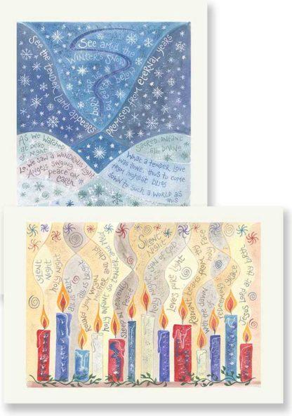 Hannah Dunnett Silent Night and See Amid Christmas card pack