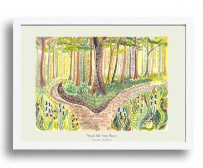 Hannah Dunnett Teach me Your Paths A3 Poster white frame