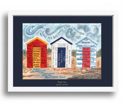 Hannah Dunnett Thank You A3 Poster white frame