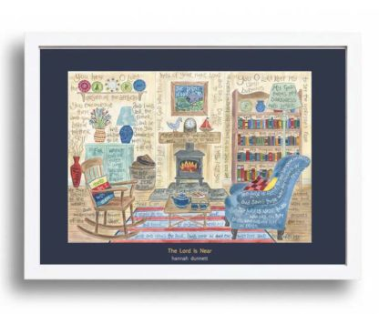 Hannah Dunnett The Lord is Near A3 Poster white frame