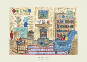 Hannah Dunnett The Lord is near greetings card pale border