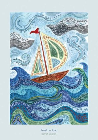 Hannah Dunnett Trust in God greetings card