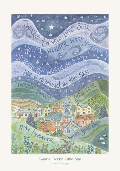 Hannah Dunnett Twinkle Twinkle Little Star greetings card
